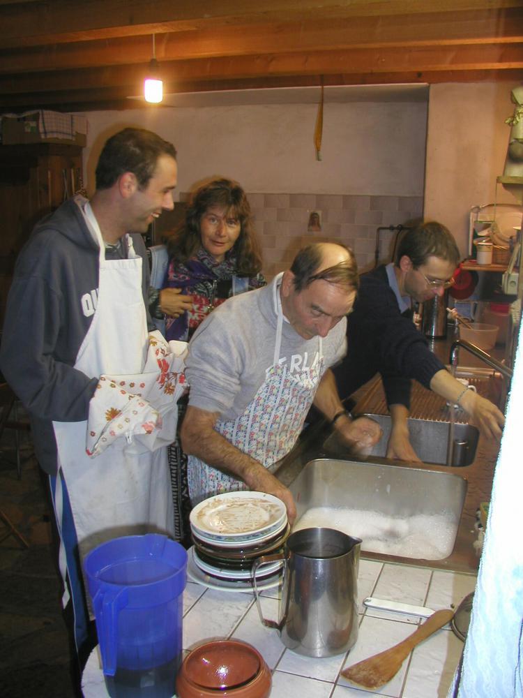 Jean-Marie et Chantal, vaisselle 2003