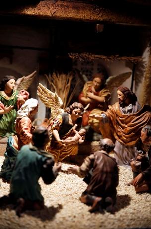 Invitation de la sainte famille pour Noël