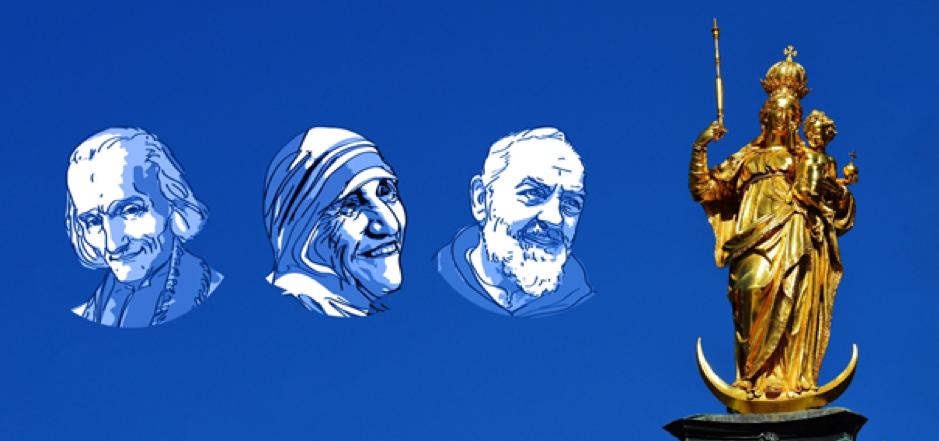 La dévotion pour la Vierge Marie : 3 exemples de saints