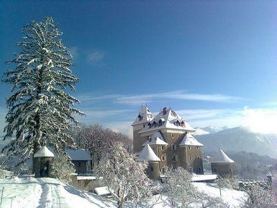 vue de St-Jeoire sous la neige